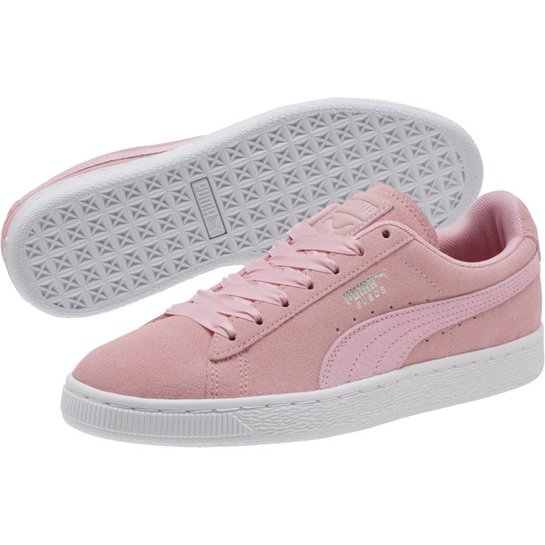 Suede Galaxy Women's Sneakers, Pale Pink-Puma Silver, large