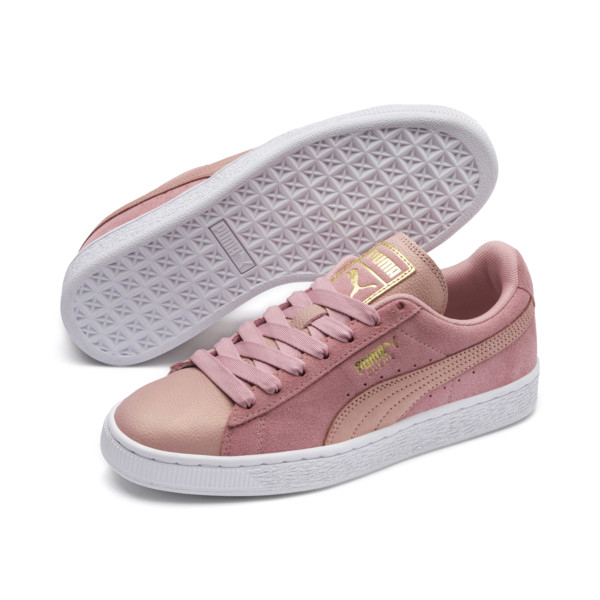 Suede Shimmer Women's Sneakers, Bridal Rose-Puma White, large