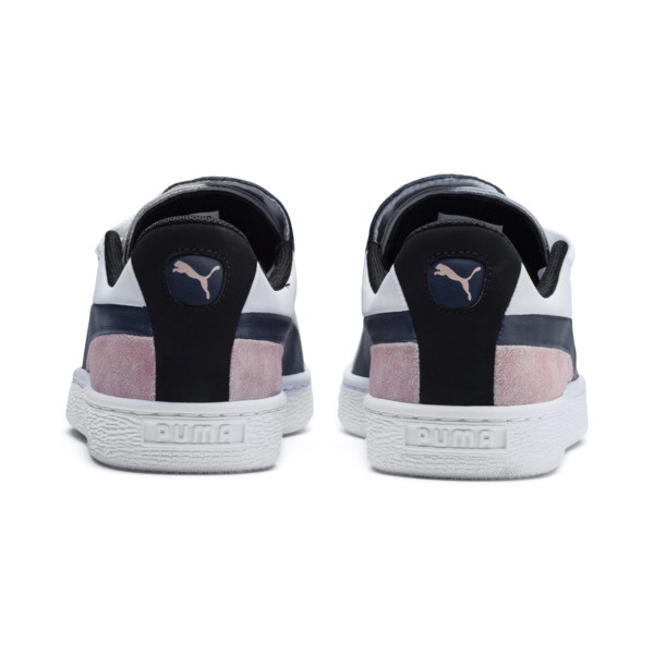 Basket Crush Paris Women's Sneakers, Dress Blues-Puma White, large
