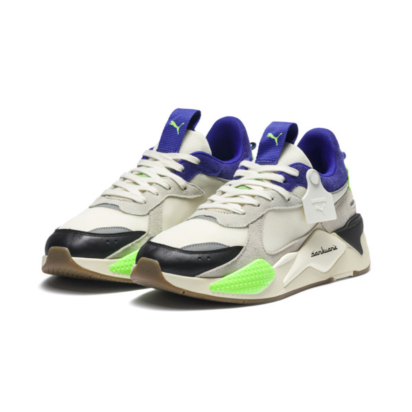 PUMA x SANKUANZ RS-X Trainers, Cloud Cream-Royal Blue, large