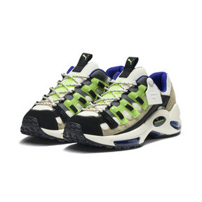 Thumbnail 3 of PUMA x SANKUANZ Cell Endura Trainers, Cloud Cream-GreenGecko-Black, medium