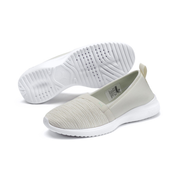 Adelina Women's Ballet Shoes, Vaporous Gray-Fair Aqua, large