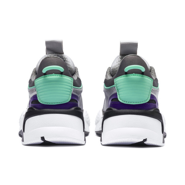 RS-X Tracks Youth Trainers, Gray Violet-Charcoal Gray, large