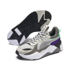Thumbnail 2 of RS-X Tracks Youth Sneaker, Gray Violet-Charcoal Gray, medium