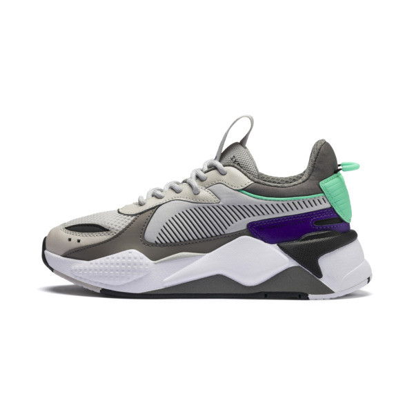 RS-X Tracks Youth Sneaker, Gray Violet-Charcoal Gray, large