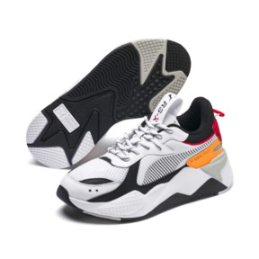 Thumbnail 2 of RS-X Tracks Youth Trainers, Puma White-Puma Black, medium