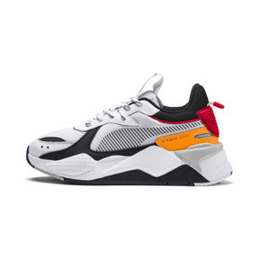 Thumbnail 1 of RS-X Tracks Youth Trainers, Puma White-Puma Black, medium