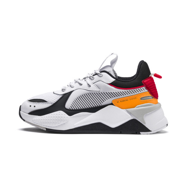 RS-X Tracks Youth Trainers, Puma White-Puma Black, large