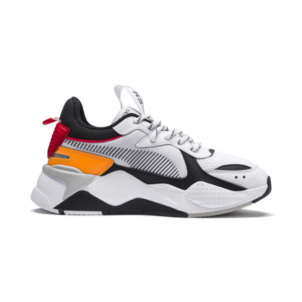 RS-X Tracks Youth Sneaker, Puma White-Puma Black, large