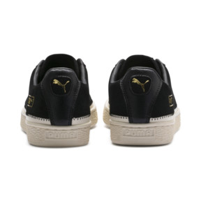 Thumbnail 4 of Suede Trim Trainers, Puma Black-Whisper - Gold, medium