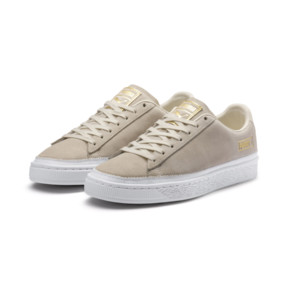Thumbnail 3 van Sneakers met suède rand, Whisper wit-wit-goud, medium