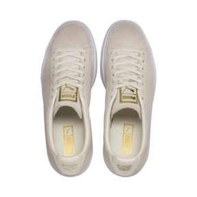 Thumbnail 7 van Sneakers met suède rand, Whisper wit-wit-goud, medium