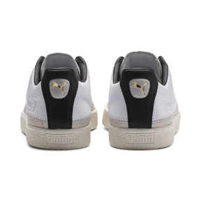 Thumbnail 4 of Basket Trim Shoes, Puma White-Whisper W-Black, medium