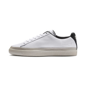 Thumbnail 1 of Basket Trim Shoes, Puma White-Whisper W-Black, medium