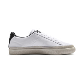 Thumbnail 6 of Basket Trim Shoes, Puma White-Whisper W-Black, medium