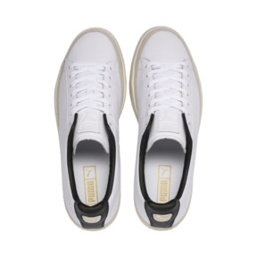 Thumbnail 7 of Basket Trim Shoes, Puma White-Whisper W-Black, medium