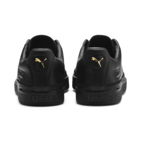 Thumbnail 4 of Basket Trim Shoes, Puma Black-Puma Team Gold, medium