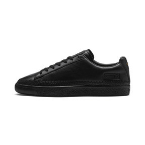 Thumbnail 1 of Basket Trim Shoes, Puma Black-Puma Team Gold, medium