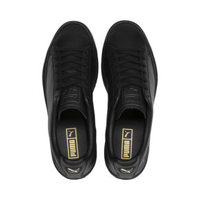 Thumbnail 7 of Basket Trim Shoes, Puma Black-Puma Team Gold, medium
