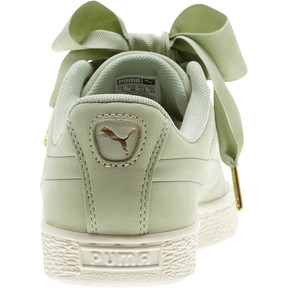 Thumbnail 3 of Basket Heart Soft Women's Sneakers, Smoke Green-Marshmallow, medium