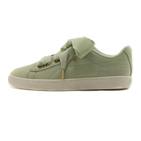 Thumbnail 1 of Basket Heart Soft Women's Sneakers, Smoke Green-Marshmallow, medium