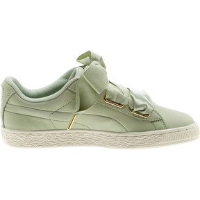 Thumbnail 4 of Basket Heart Soft Women's Sneakers, Smoke Green-Marshmallow, medium