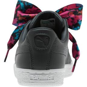 Thumbnail 3 of Basket Heart Wonderland Women's Sneakers, Ebony-Puma Silver, medium