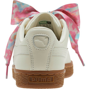 Thumbnail 3 of Basket Heart Wonderland Women's Sneakers, Marshmallow-Puma Team Gold, medium