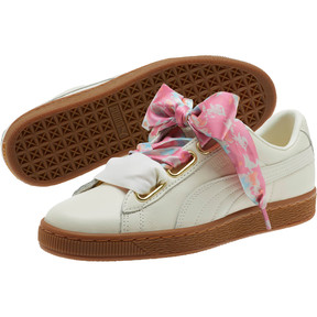 Thumbnail 2 of Basket Heart Wonderland Women's Sneakers, Marshmallow-Puma Team Gold, medium