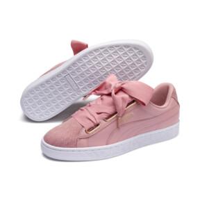 Thumbnail 2 of Basket Heart Woven Rose Women's Sneakers, Bridal Rose-Puma White, medium