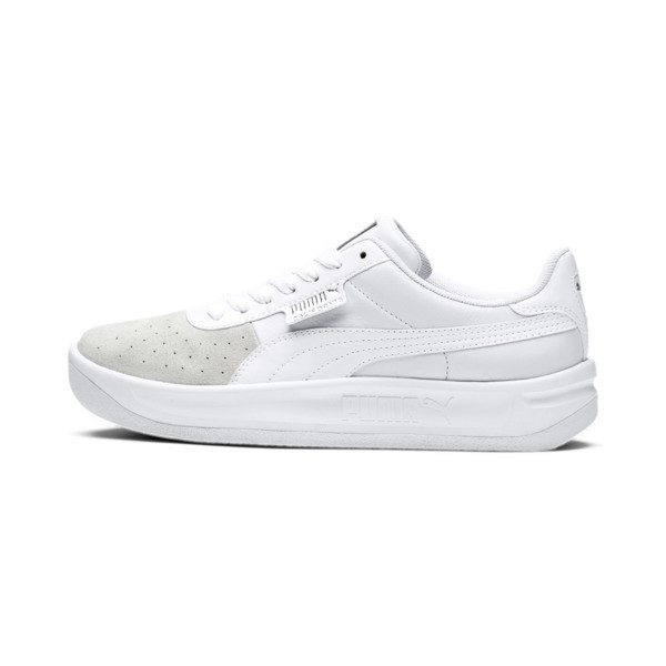 California Monochrome Women's Sneakers, Puma White-Puma Silver, large