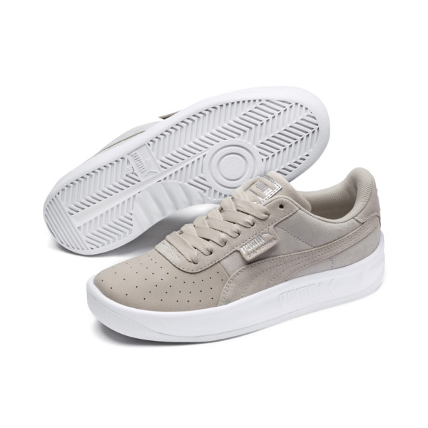 California Shimmer Women's Trainers, Silver Gray-Puma Silver, large