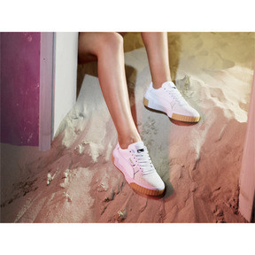 Thumbnail 7 of Cali Exotic Women's Sneakers, Puma White-Puma White, medium