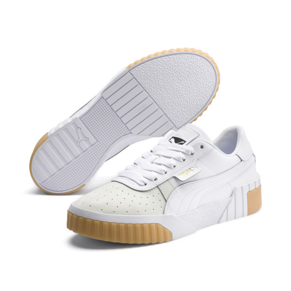 Cali Exotic Women's Trainers, Puma White-Puma White, large