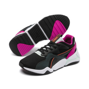 Thumbnail 3 of Nova Mesh Damen Sneaker, Puma Black-Fair Aqua, medium