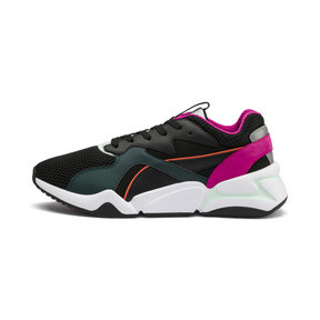 Thumbnail 1 of Nova Mesh Women's Trainers, Puma Black-Fair Aqua, medium