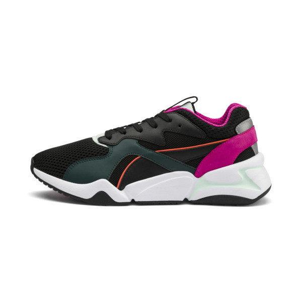 Nova Mesh Damen Sneaker, Puma Black-Fair Aqua, large