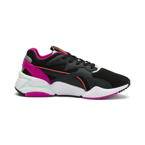 Nova Mesh Women's Trainers, Puma Black-Fair Aqua, large