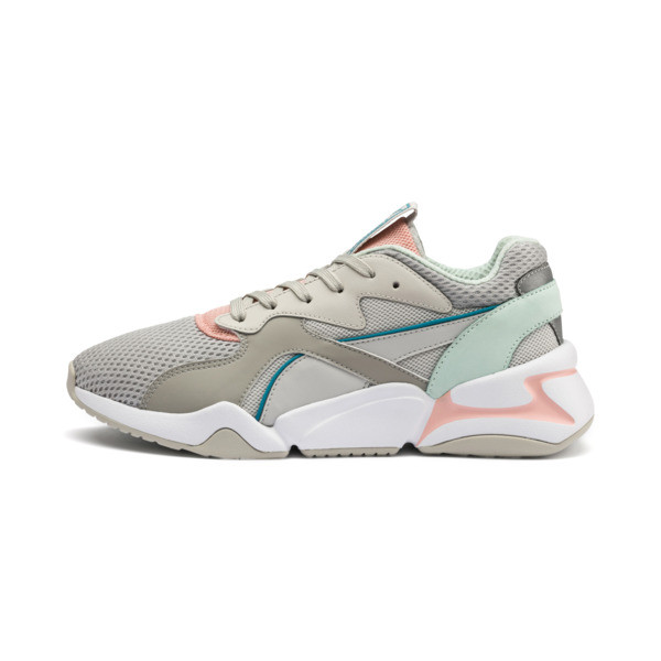 Nova Mesh Women's Trainers, Gray Violet-Peach Bud, large