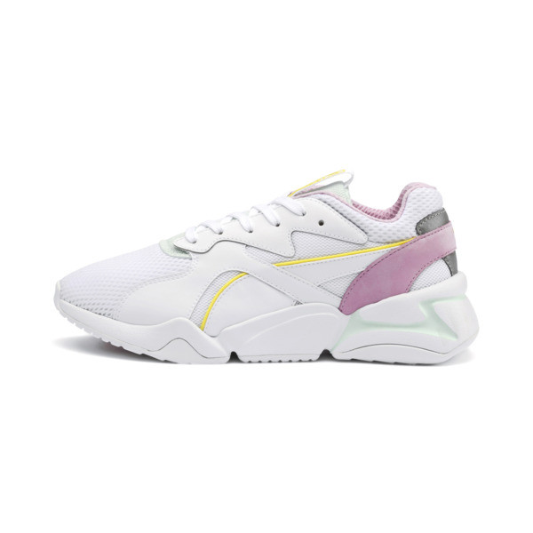 Nova Mesh Women's Sneakers, Puma White-Fair Aqua, large