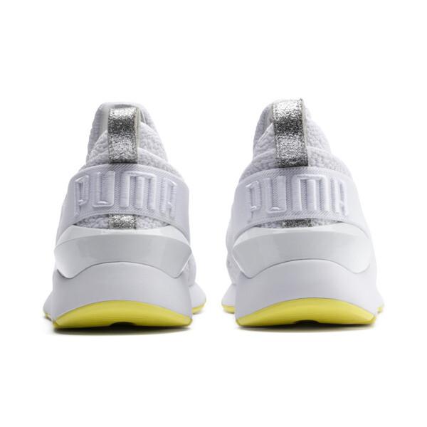 プーマ ミューズ TZ ウィメンズ, Puma White-Blazing Yellow, large-JPN
