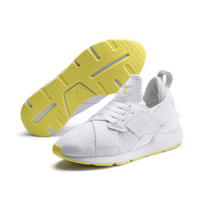 Thumbnail 2 of Muse Trailblazer Women's Trainers, Puma White-Blazing Yellow, medium