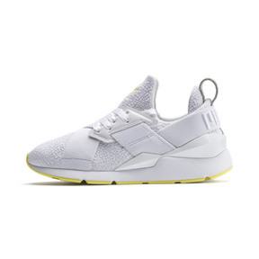 Thumbnail 1 of Muse Trailblazer Women's Trainers, Puma White-Blazing Yellow, medium