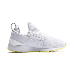 Thumbnail 5 of Muse Trailblazer Women's Trainers, Puma White-Blazing Yellow, medium