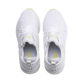 Thumbnail 6 of Muse Trailblazer Women's Trainers, Puma White-Blazing Yellow, medium