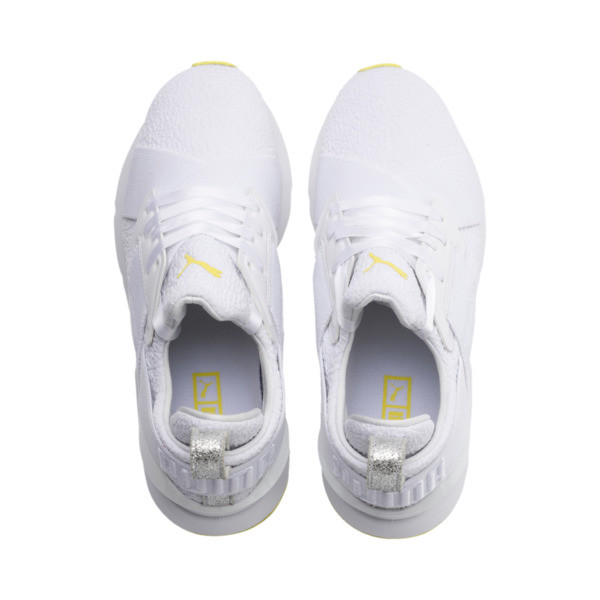 Muse Trailblazer Women's Trainers, Puma White-Blazing Yellow, large
