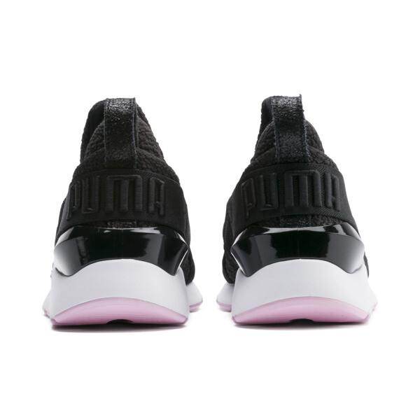 プーマ ミューズ TZ ウィメンズ, Puma Black-Pale Pink, large-JPN
