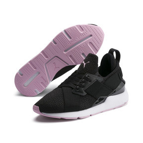 Thumbnail 2 of Basket Muse TZ pour femme, Puma Black-Pale Pink, medium