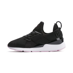 Thumbnail 1 of Basket Muse TZ pour femme, Puma Black-Pale Pink, medium
