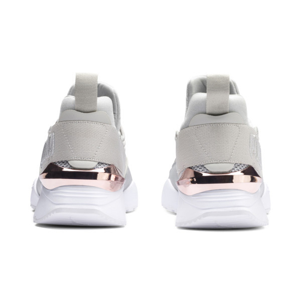 Zapatos deportivos Muse Maia Metallic Rose de mujer, Gray Violet-Rose Gold, grande